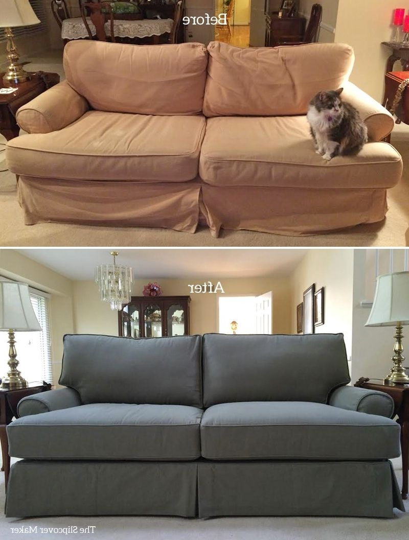 Popular Custom Washed Denim Slipcover For Quatrine Veranda Sofathe Regarding Quatrine Sectional Sofas (View 2 of 15)