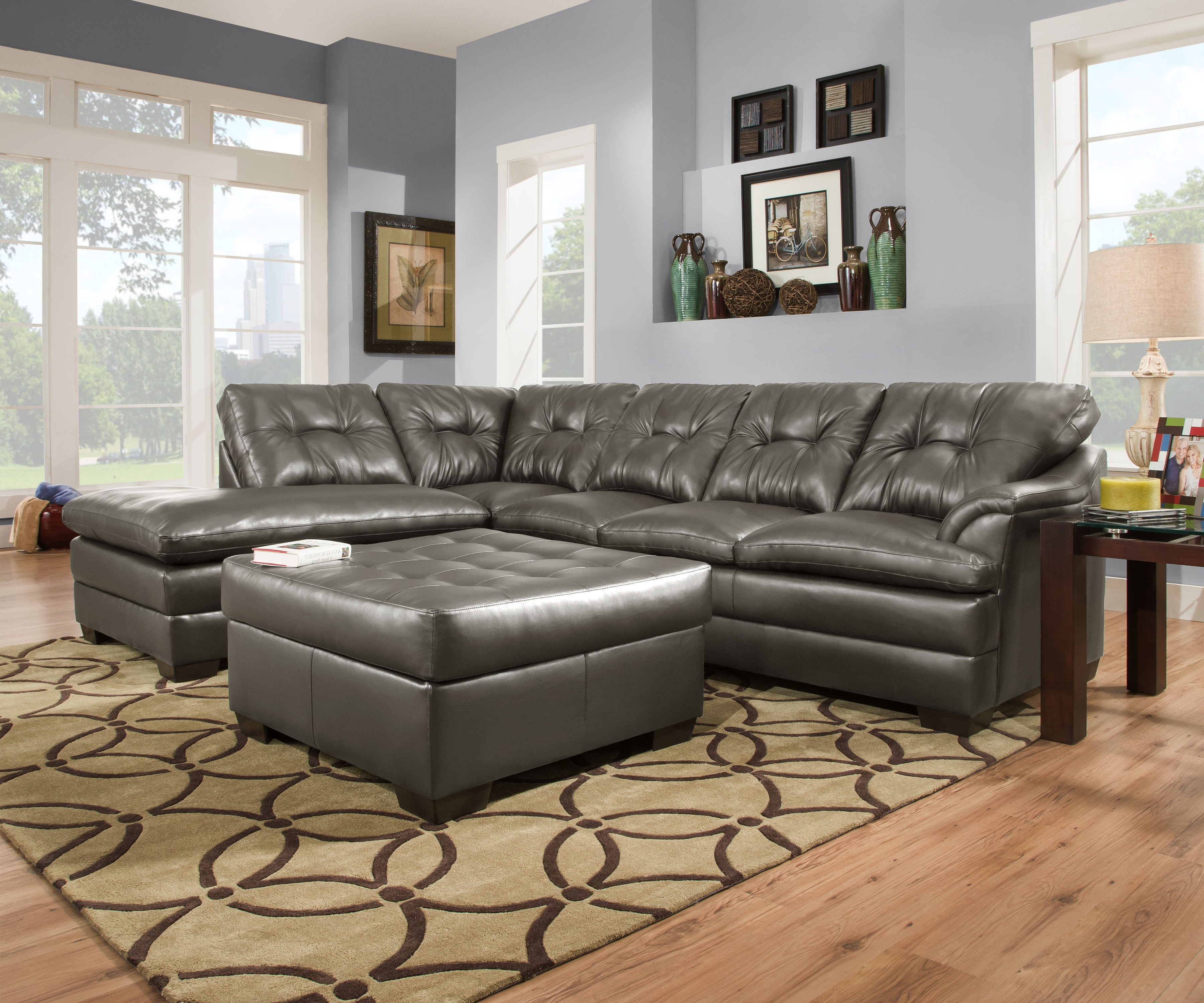 Popular Designssimmons – Simmons Apollo Charcoal 2Pc Sectional Pertaining To Simmons Chaise Sofas (View 7 of 15)