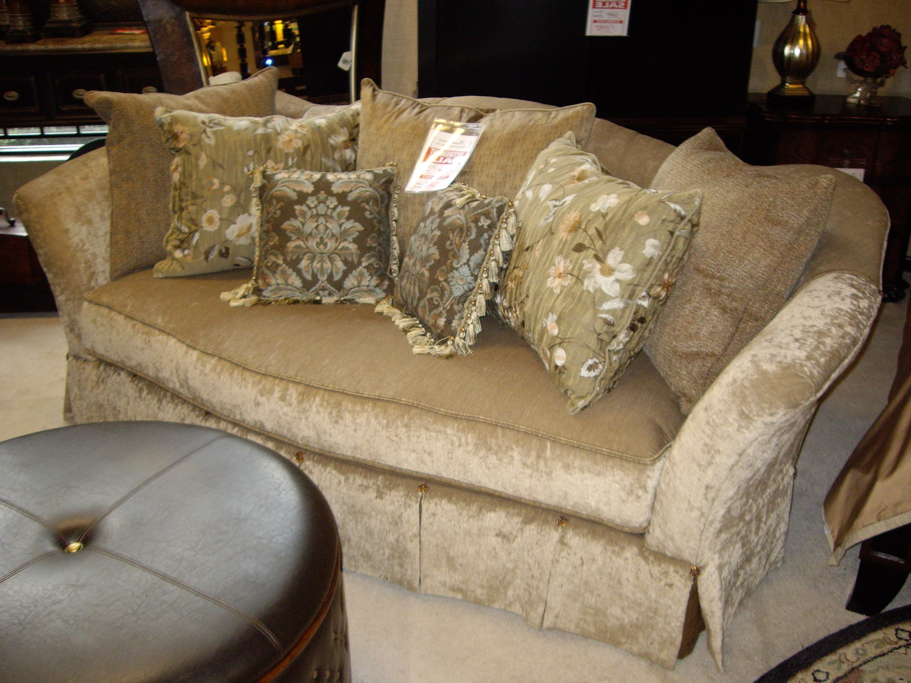 Popular Down Filled Sofas Within Sofa : Down Filled Velvet Sofa Down Filled Sofa And Loveseat Down (View 2 of 15)