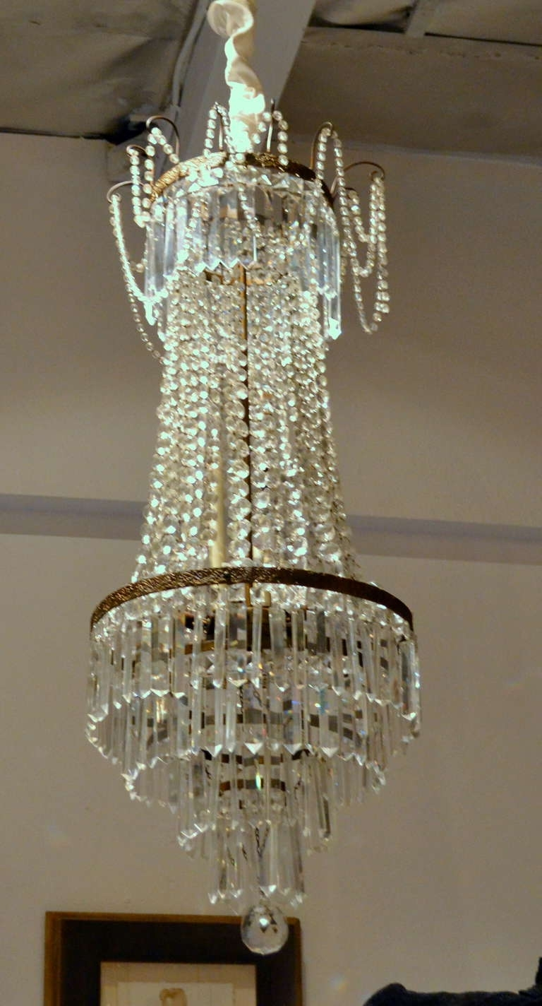 Popular Fine Antique French Empire Cut Crystal Chandelier For Sale At 1Stdibs Within Antique Style Chandeliers (View 12 of 15)