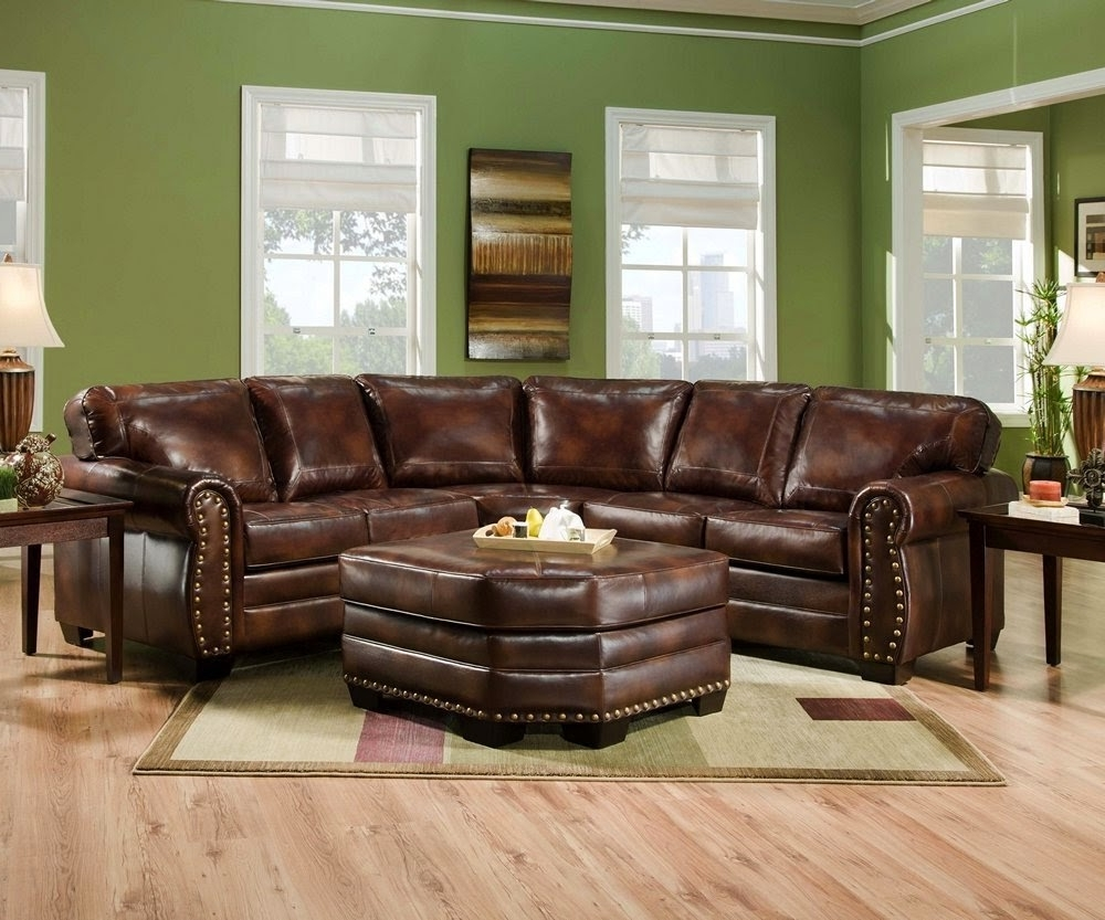 Popular Furniture Comfortable Sectional Sofas Leather Sectional With Inside Leather Sectionals With Ottoman (View 9 of 15)