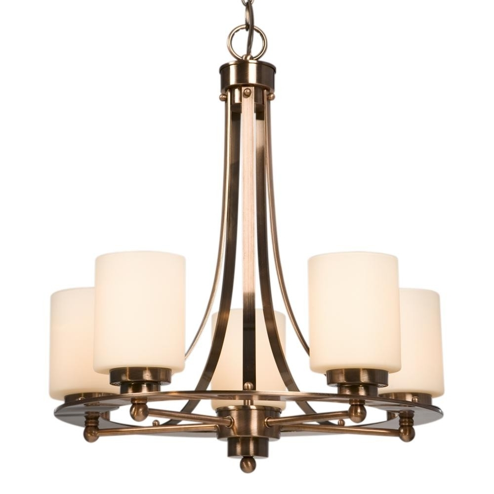 Popular Galaxy Lighting 800423Acp 5 Light Copper Chandeliers (View 5 of 15)