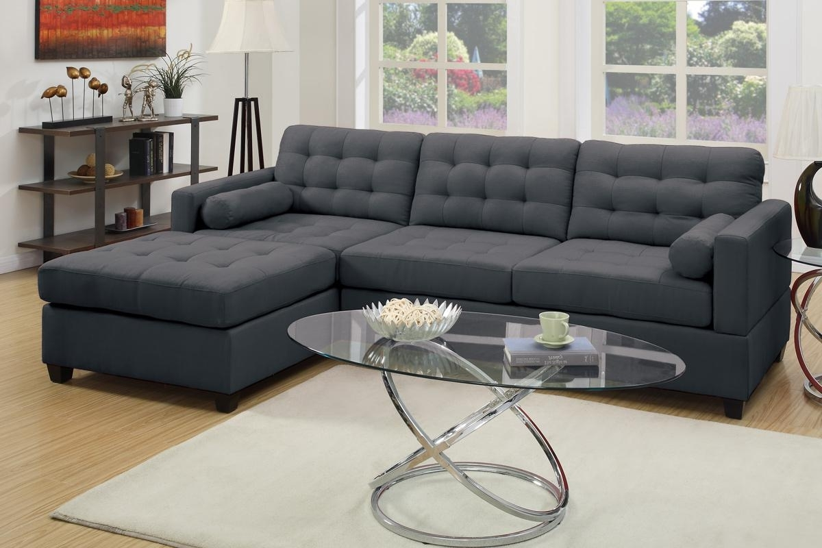 Popular Grey Fabric Sectional Sofa – Steal A Sofa Furniture Outlet Los Regarding Fabric Sectional Sofas With Chaise (View 6 of 15)