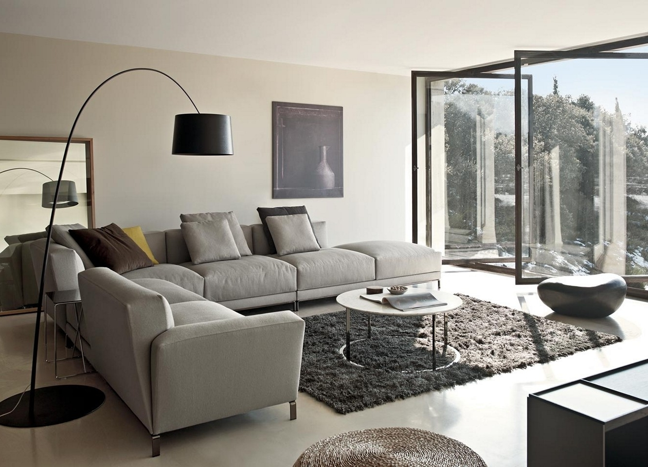 Popular Grey Sofa Chairs In Living Room Design : Living Room Susan Design Ideas Grey Sofa (View 11 of 15)