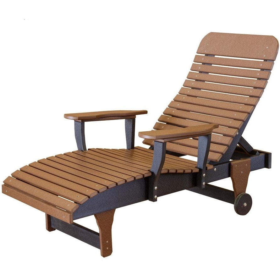 Popular Hardwood Chaise Lounge Chairs In Wildridge Outdoor Chaise Lounge – Rocking Furniture (View 13 of 15)