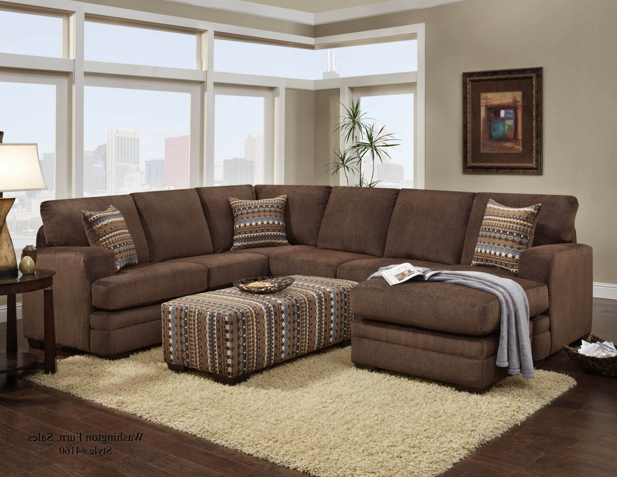 Popular Hillel Chocolate Sectional (View 10 of 15)