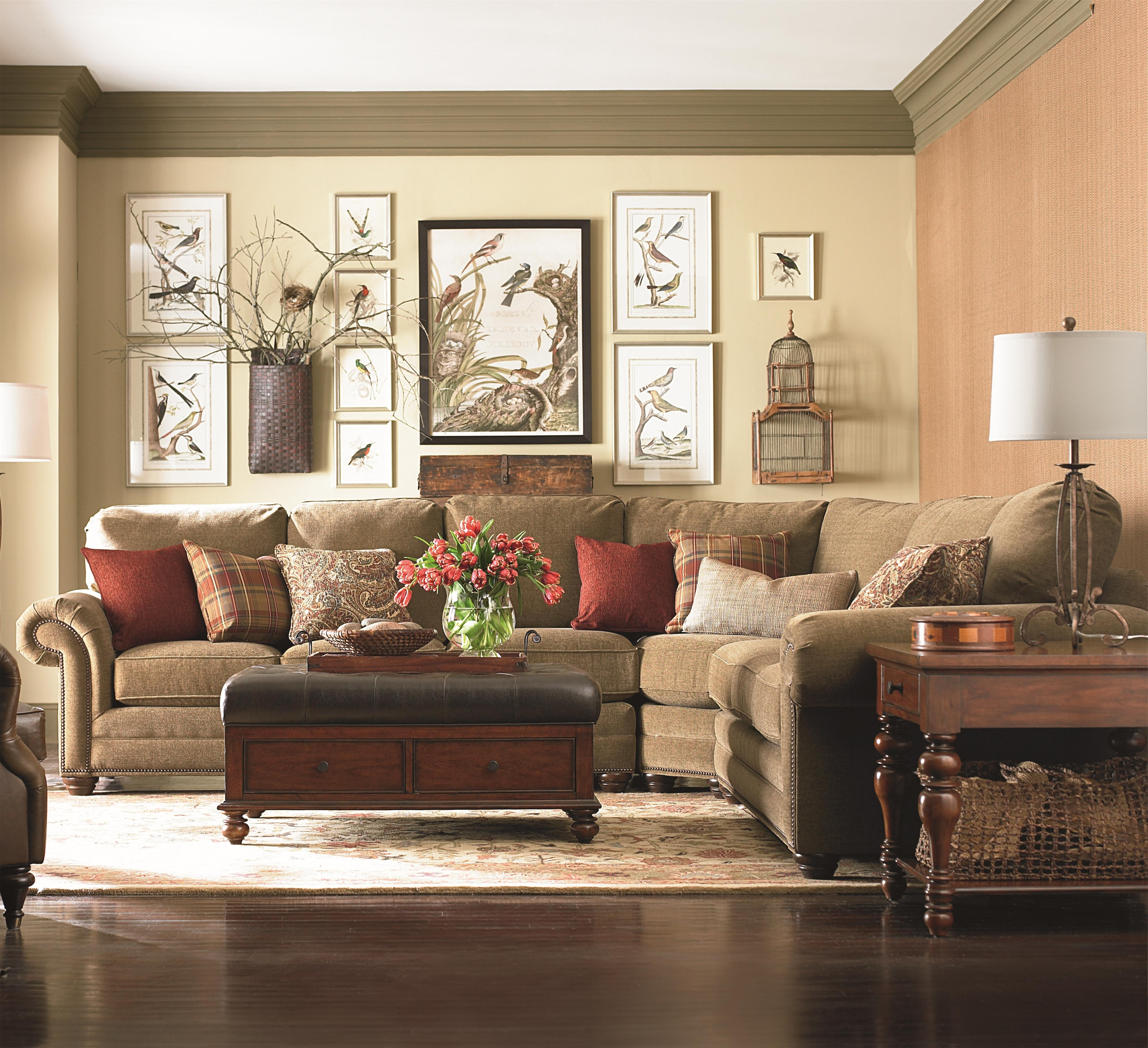 Popular Huntsville Al Sectional Sofas With Regard To Bassett Custom Upholstery – Manor <B>Customizable</b> 3 Pc (View 11 of 15)
