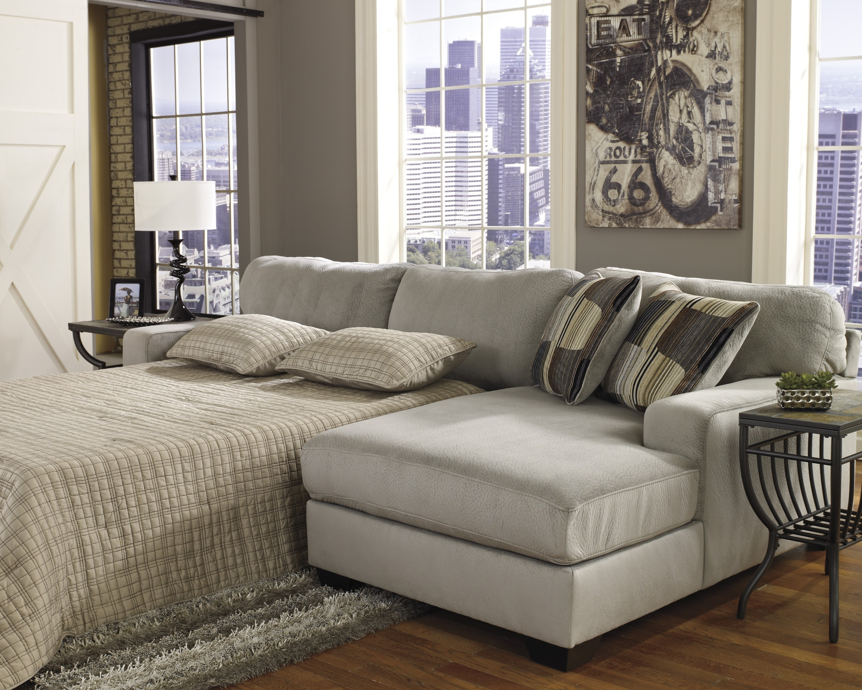 Popular Interesting Sleeper Sectional Sofa With Chaise Simple Home Design With Regard To Leather Sectional Sleeper Sofas With Chaise (View 15 of 15)