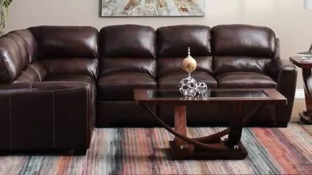 Popular Jerome's Furniture – Tuscany Leather Sectional – Youtube Throughout Jerome's Sectional Sofas (View 14 of 15)