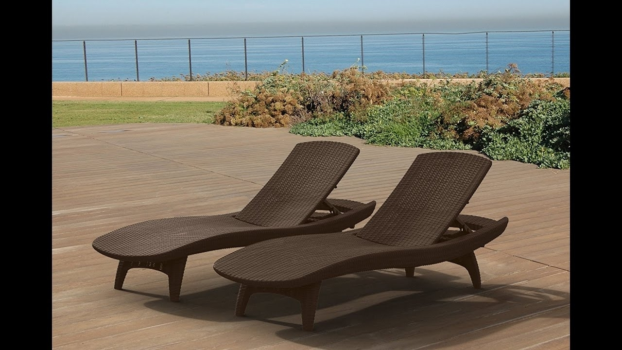 Popular Keter Chaise Lounge Chairs Intended For Review: Keter Pacific 2 Pack All Weather Adjustable Outdoor Patio (View 3 of 15)