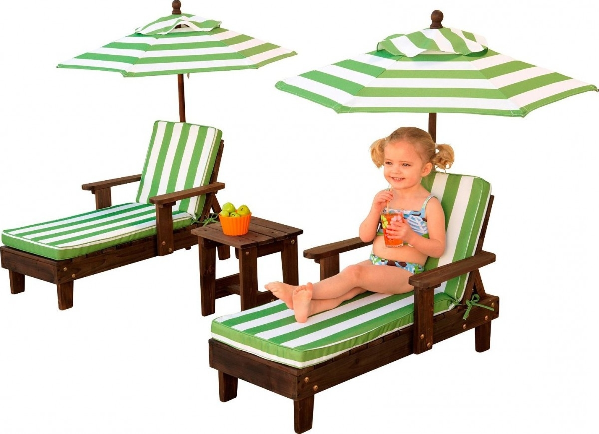 Popular Kidkraft Chaise Lounges In Outdoor Chaise Lounge Chairs And Umbrella Set (View 12 of 15)