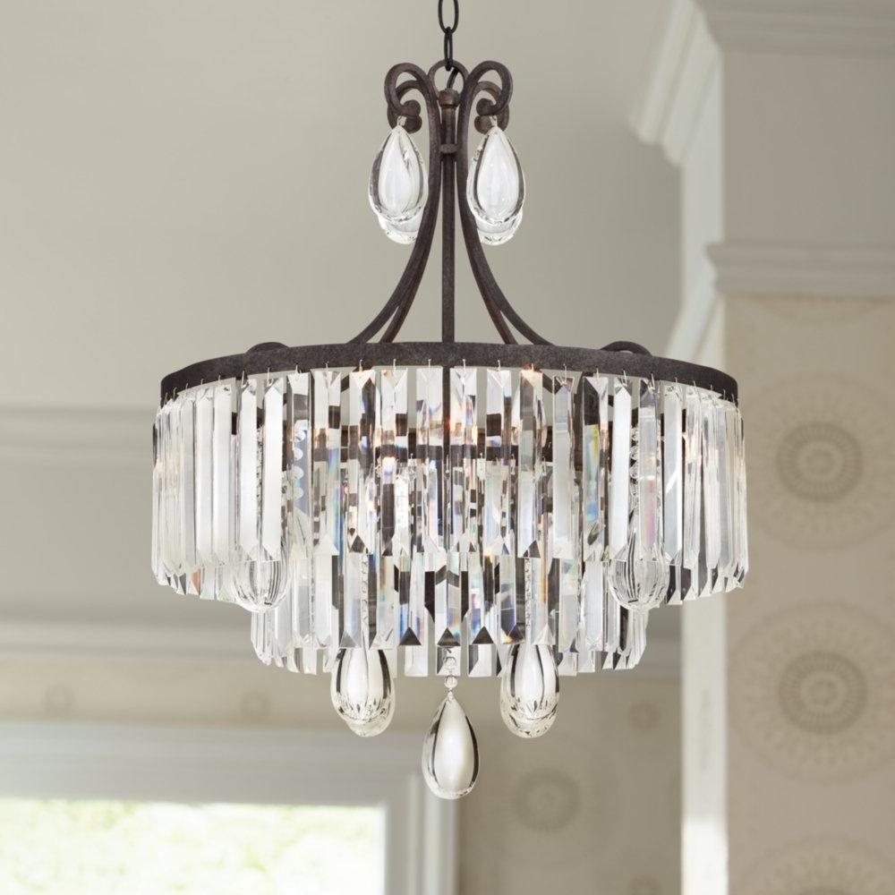 "Popular Luba 20"" Wide Bronze Crystal 4 Light Chandelier – – Amazon Inside Bronze And Crystal Chandeliers (View 4 of 15)"