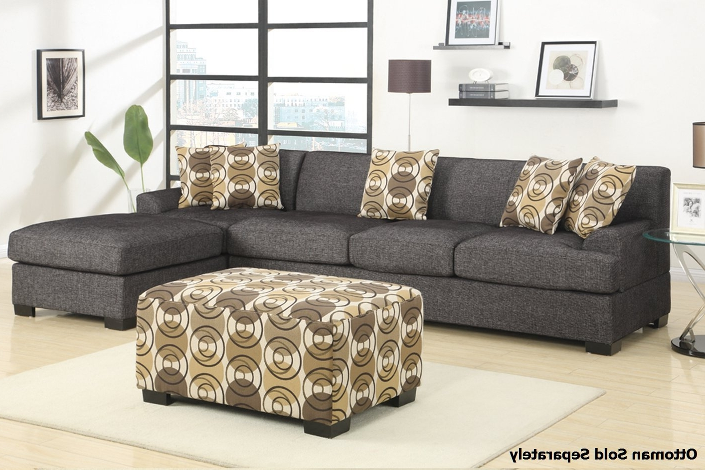 Popular Montreal Sectional Sofas Regarding Montreal Iii Grey Fabric Sectional Sofa – Steal A Sofa Furniture (View 11 of 15)