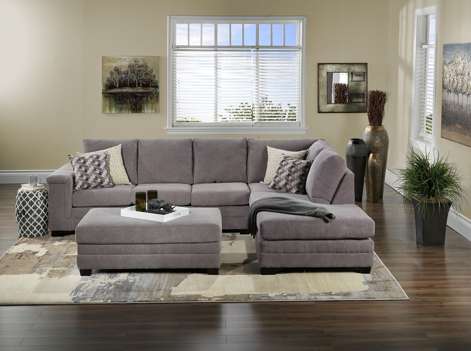 Popular Oakville Sectional Sofas In Leighton 2 Piece Sectional With Left Facing Chaise – Grey (View 7 of 15)