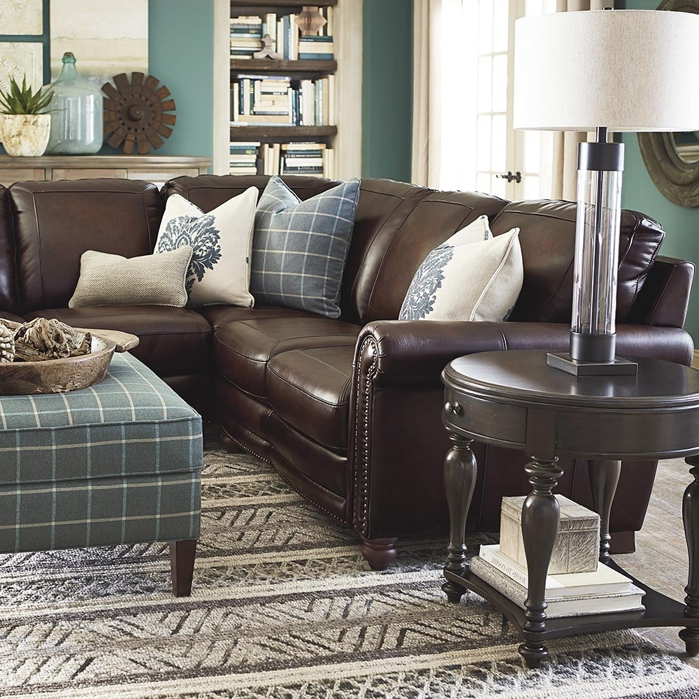 Popular Old World Brown Leather Sectional (View 6 of 15)