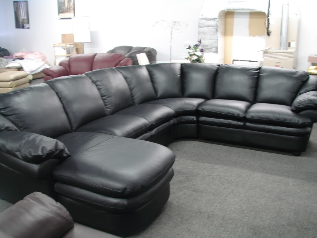 Popular On Sale Sectional Sofas With Cozy Black Leather Sofas For Elegant Living Room : Gorgeous (View 7 of 15)