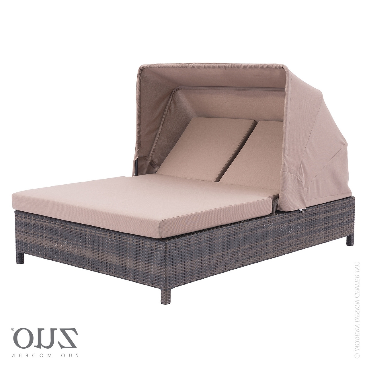 Popular Ontario Chaise Lounges In Siesta Key Double Chaise Lounge Brown –  (View 4 of 15)