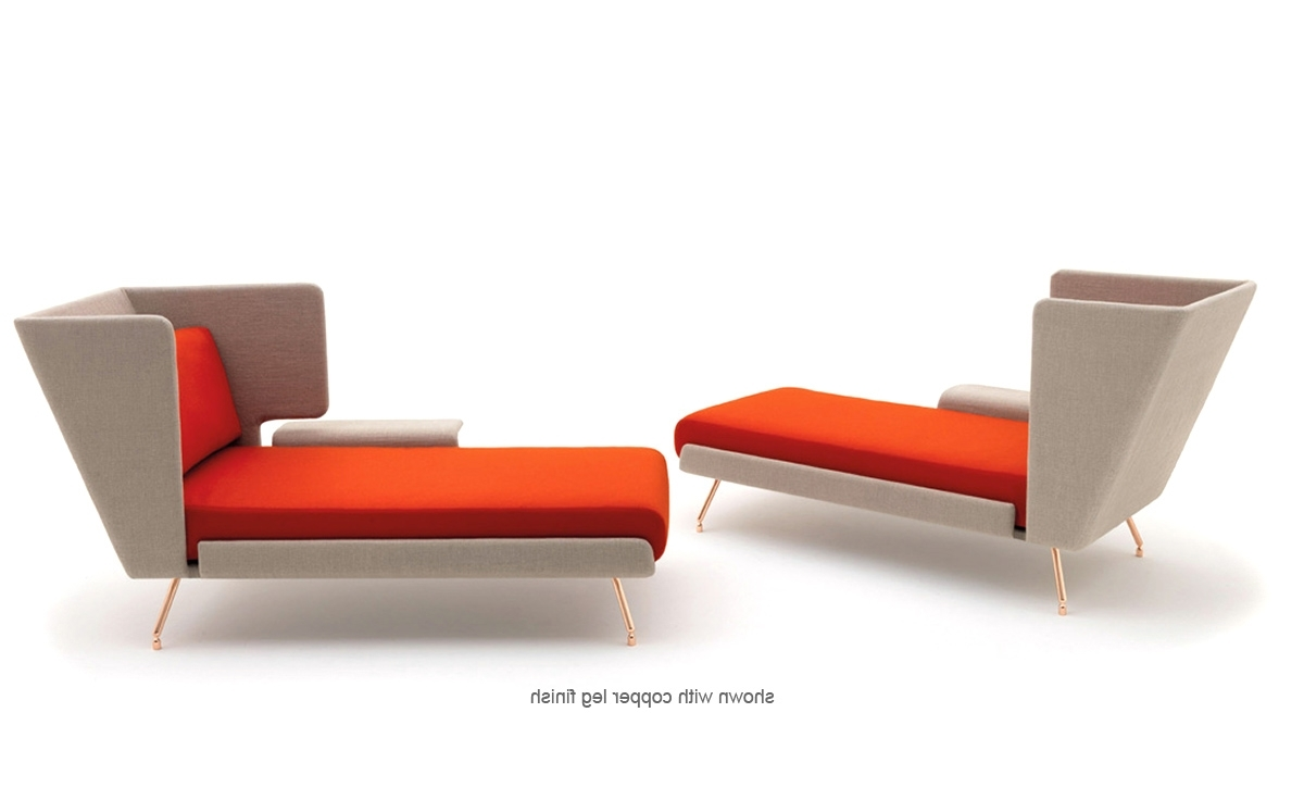 Popular Orange Chaise Lounges For Architecture & Associés Residential Chaise Lounge – Hivemodern (View 4 of 15)