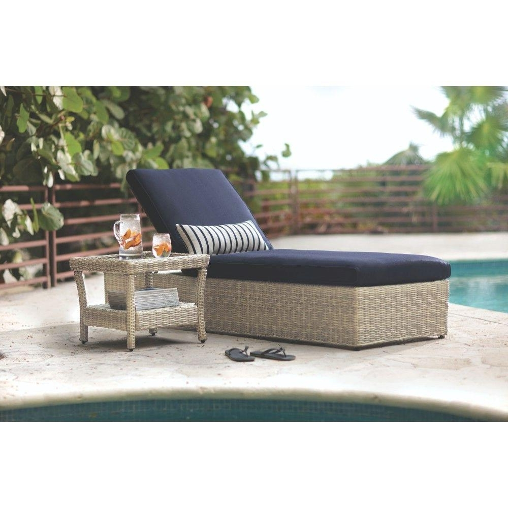 Popular Outdoor Chaises Inside Blue – Outdoor Chaise Lounges – Patio Chairs – The Home Depot (View 12 of 15)