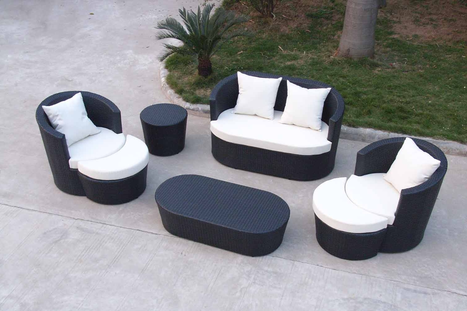 Popular Outdoor Sofa Chairs With Regard To Sofa : Outdoor Patio Furniture Sofa Sets Outdoor Furniture Sofa (View 7 of 15)