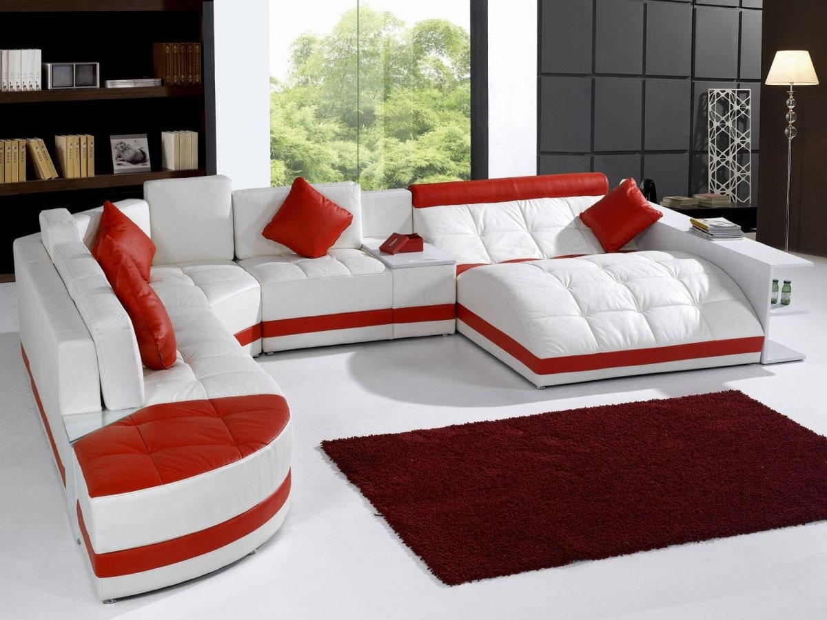Popular Red Leather Sectionals With Chaise Inside Sectionals Sofas Costco Furniture Store 4 Seat Sectional White (View 7 of 15)