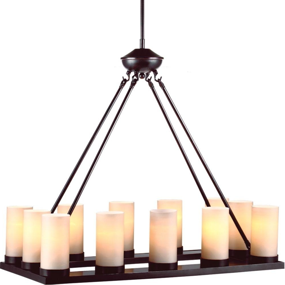 Popular Sea Gull Lighting Ellington 12 Light Burnt Sienna Single Tier Intended For Candle Look Chandeliers (View 13 of 15)