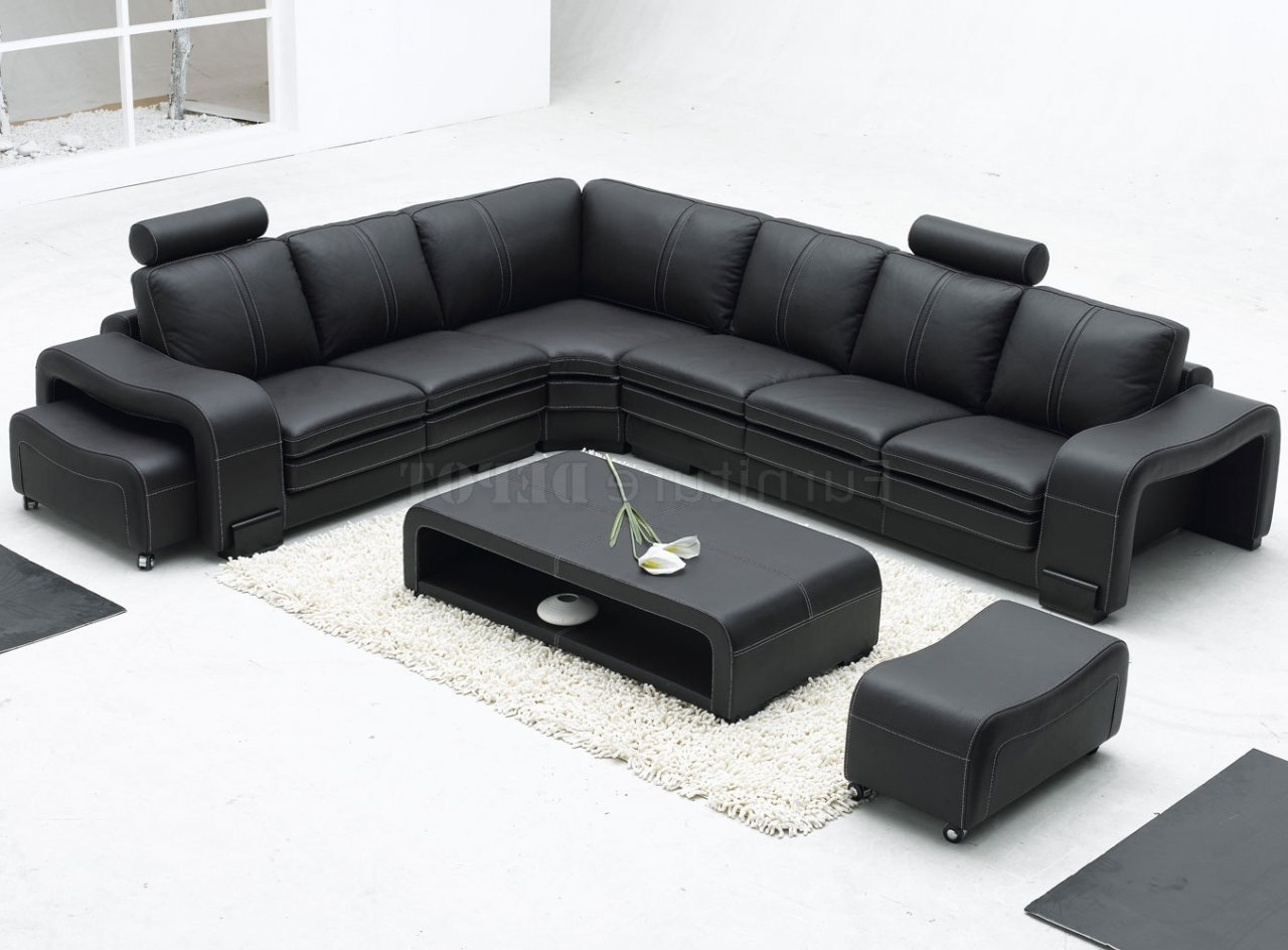 Popular Sears Sectional Sofas Within 4087 Modern Leather Sectional Sofa Bob Furniture Sofa Bed Power (View 14 of 15)