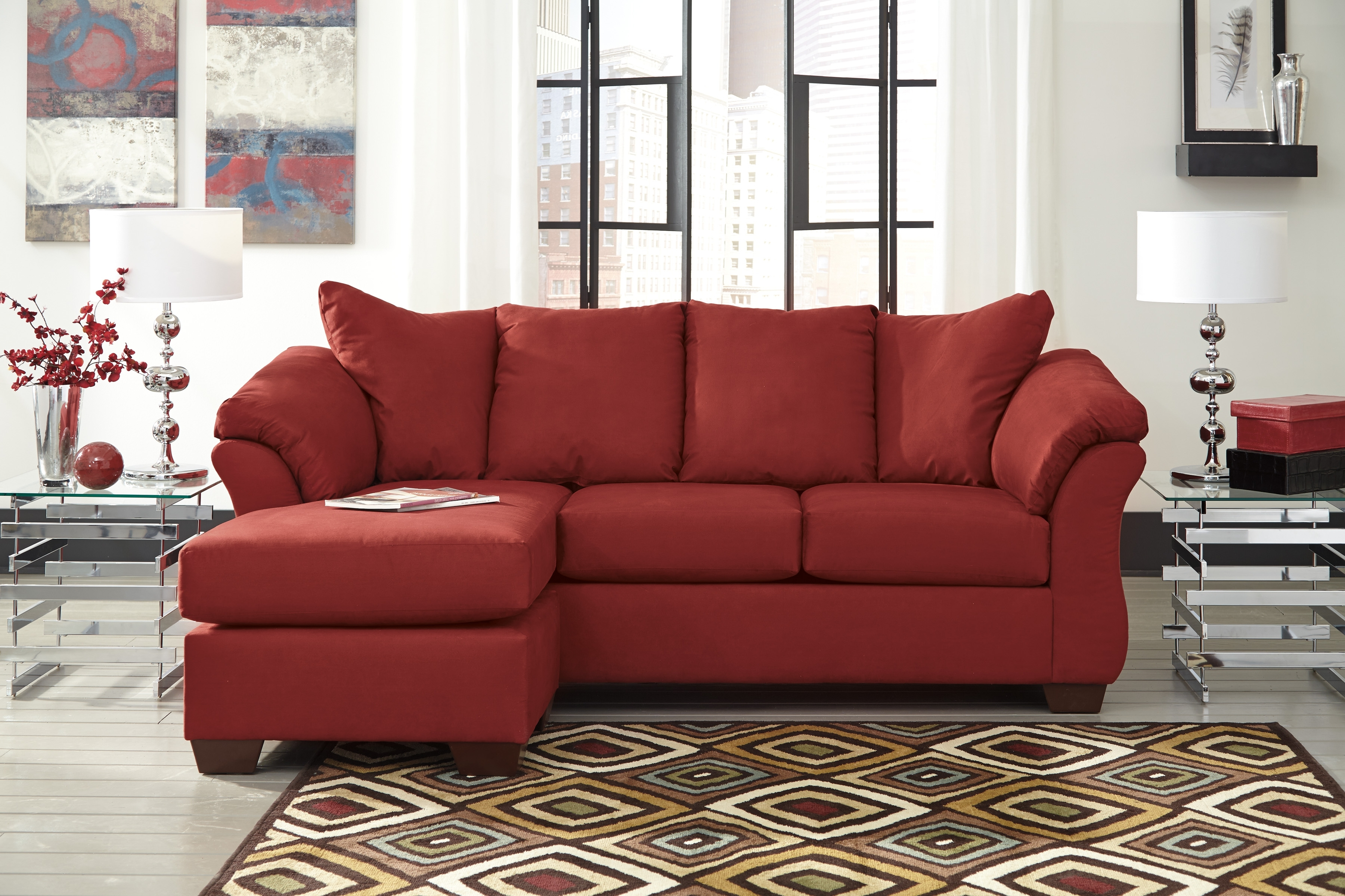 Popular Signature Designashley 7500118 Darcy Salsa Sofa Chaise With Regard To Ashley Chaise Sofas (View 9 of 15)