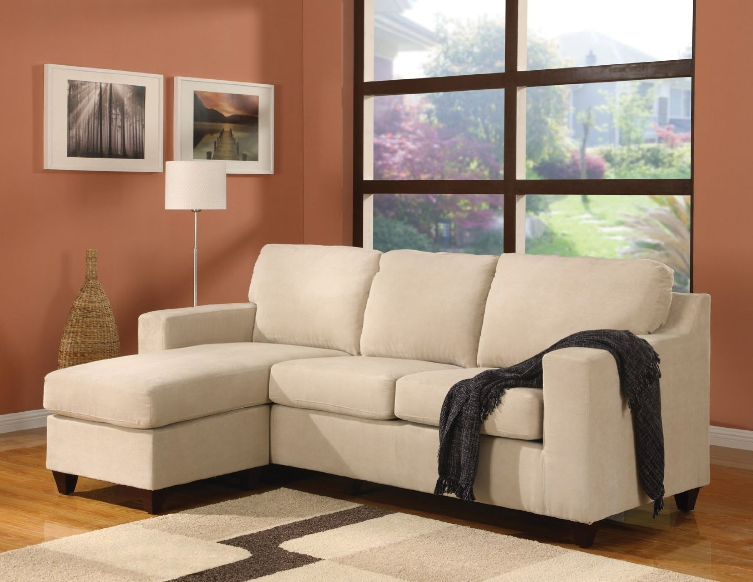Popular Small Couches With Chaise Regarding Leather Loveseat With Chaise 72 Inch Sofa Sectional Sleeper Sofa (View 7 of 15)