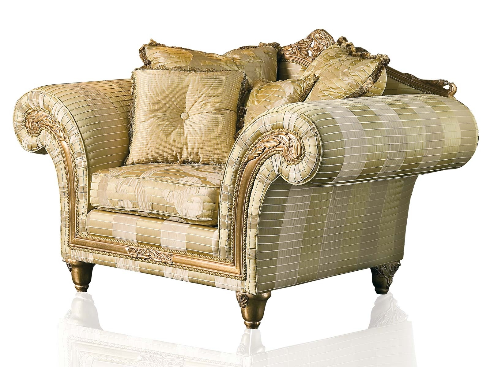 Popular Sofa Arm Chairs Within Luxury Classic Sofa And Armchairs – Imperialvimercati Media (View 9 of 15)