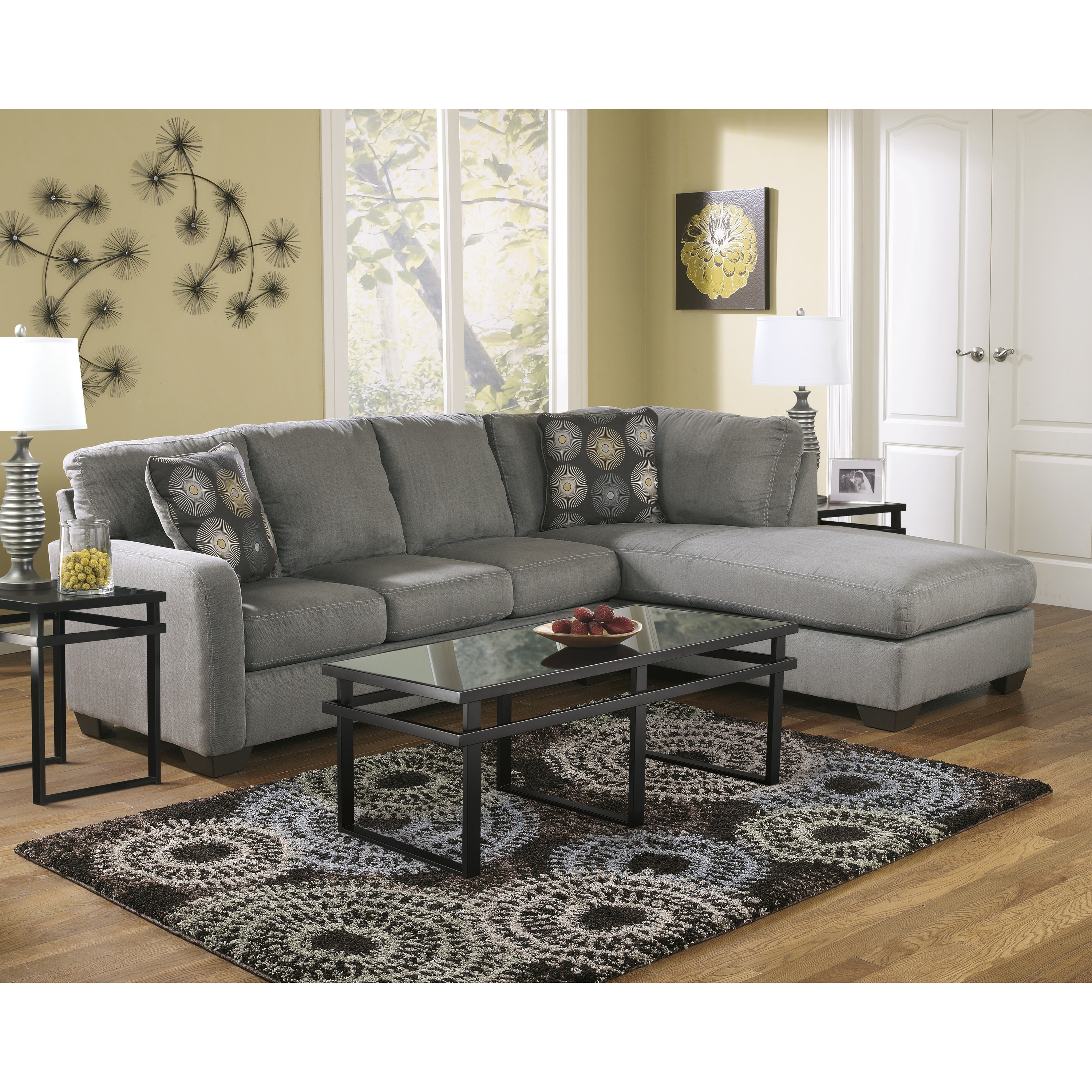 Popular Tables For Couches Fresh In Great Furniture L Shaped Grey Regarding Coffee Tables For Sectional Sofa With Chaise (View 11 of 15)