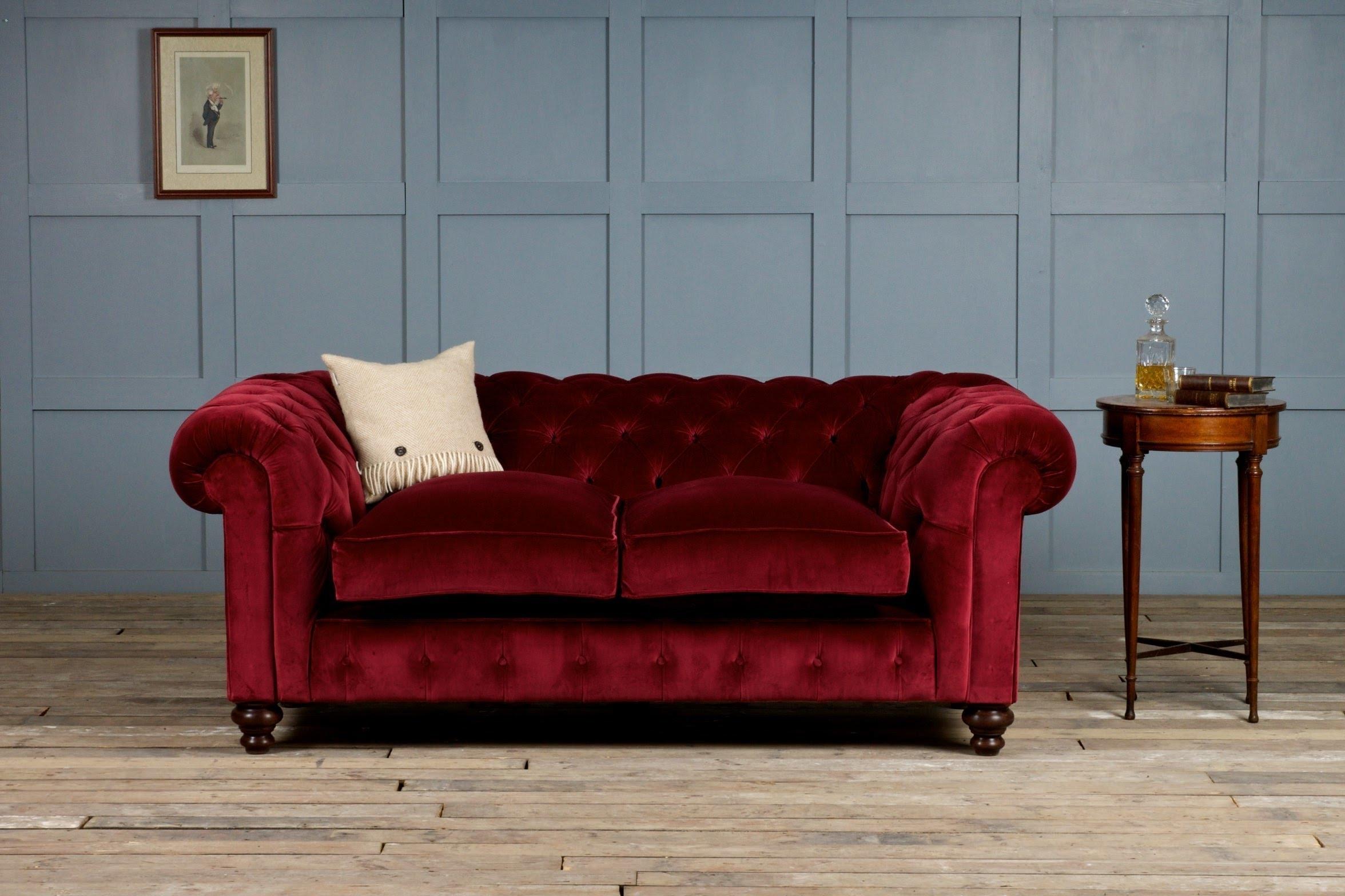 Popular Velvet Chaise Settees Intended For Velvet Sofa – Youtube (View 8 of 15)