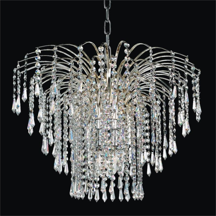 Popular Waterfall Crystal Chandelier (View 12 of 15)