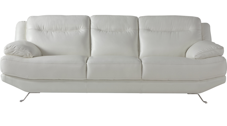 Popular White Leather Sofas & Couches Regarding White Leather Sofas (View 2 of 15)