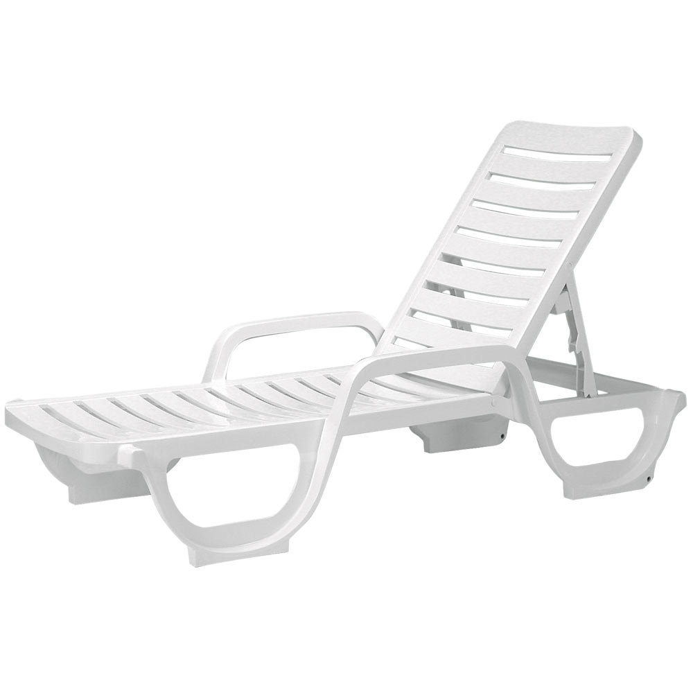 Popular White Plastic Resin Lounge Chairs • Lounge Chairs Ideas For Green Resin Chaise Lounge Chairs (View 9 of 15)