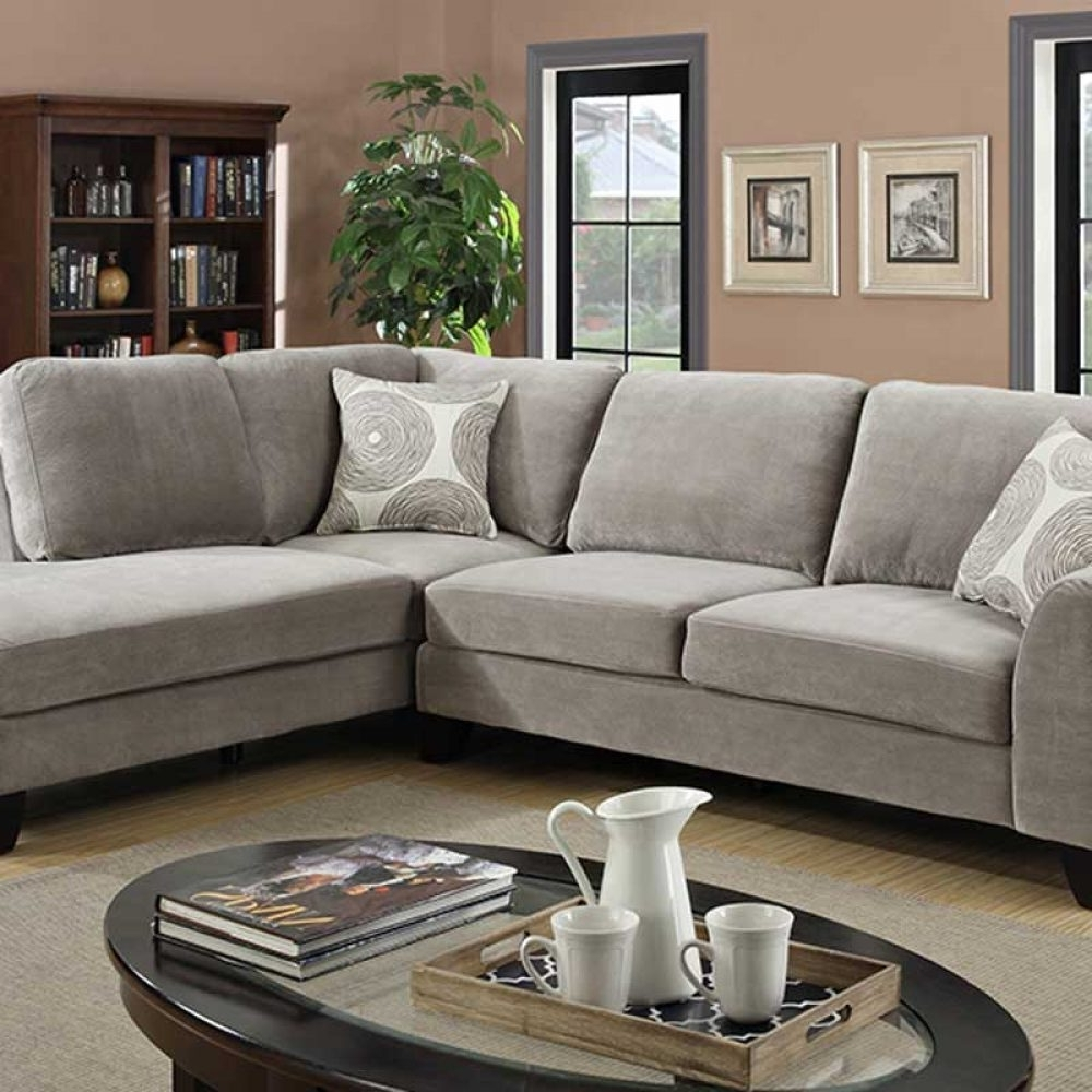 Portland Oregon Sectional Sofas Within 2017 Malibu Gray Sectional – The Furniture Shack (View 13 of 15)