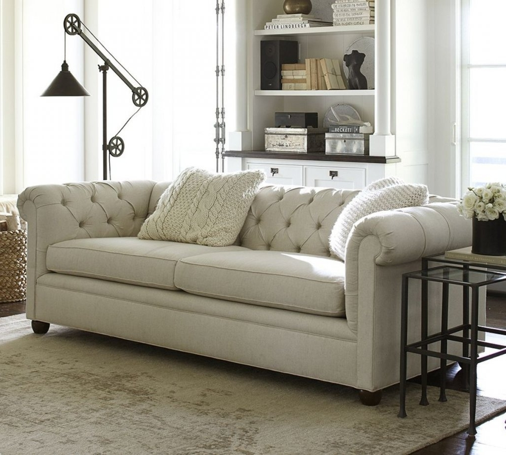 Pottery Barn Sectional Sofas Intended For Well Known Leather Sleeper Sofa Pottery Barn (View 8 of 15)