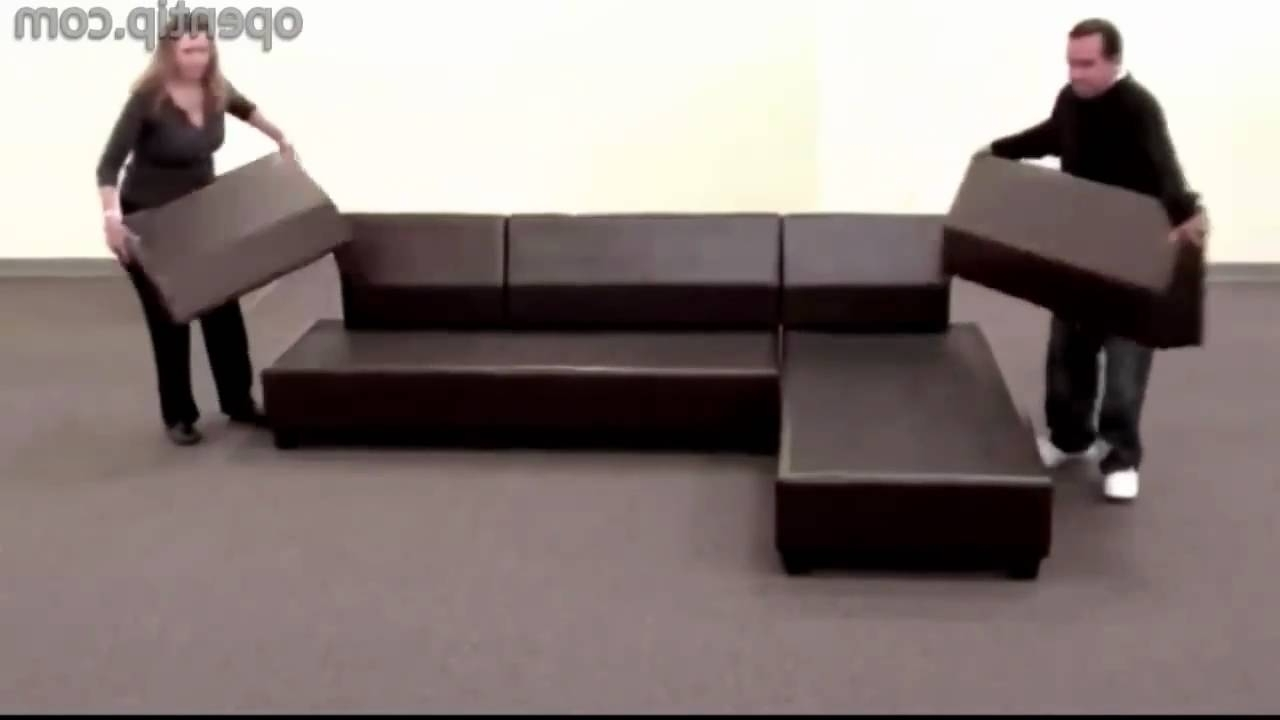 Poundex 3Pcs Hungtinton Sectional Sofa Set (Ottoman Reversible With Regard To Trendy Sectional Sofas That Come In Pieces (View 7 of 15)