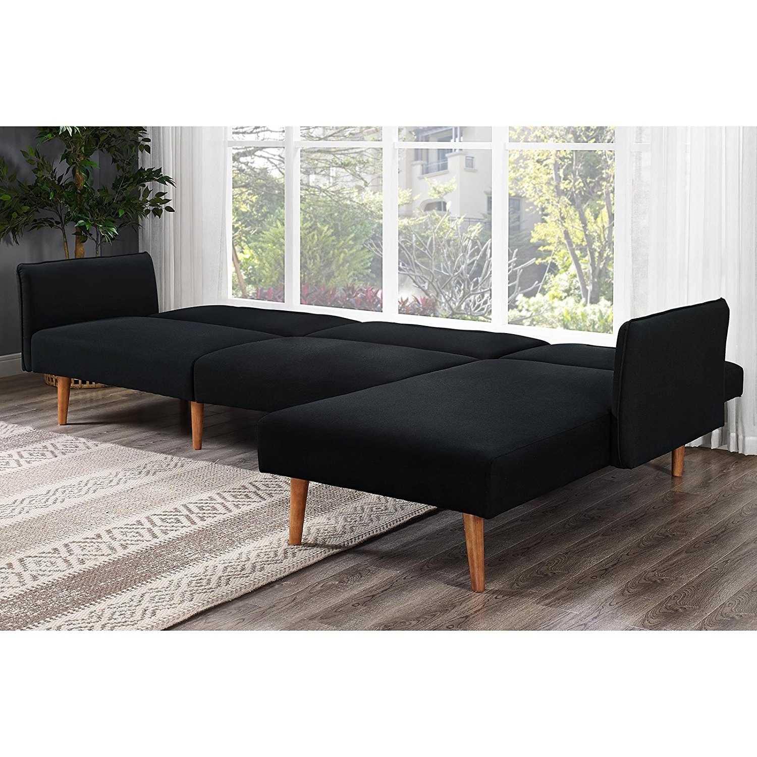 Preferred Amazon: Dhp Brent Futon Chaise: Kitchen & Dining For Futons With Chaise (View 5 of 15)