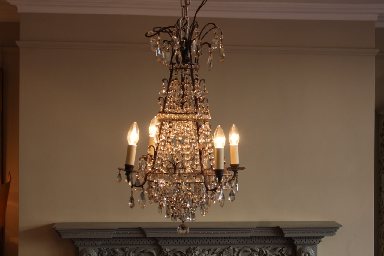 Preferred Antique Mirror Chandelier In Early 20Th Century French Cut Glass Chandelier – Antique Mirrors (View 8 of 15)