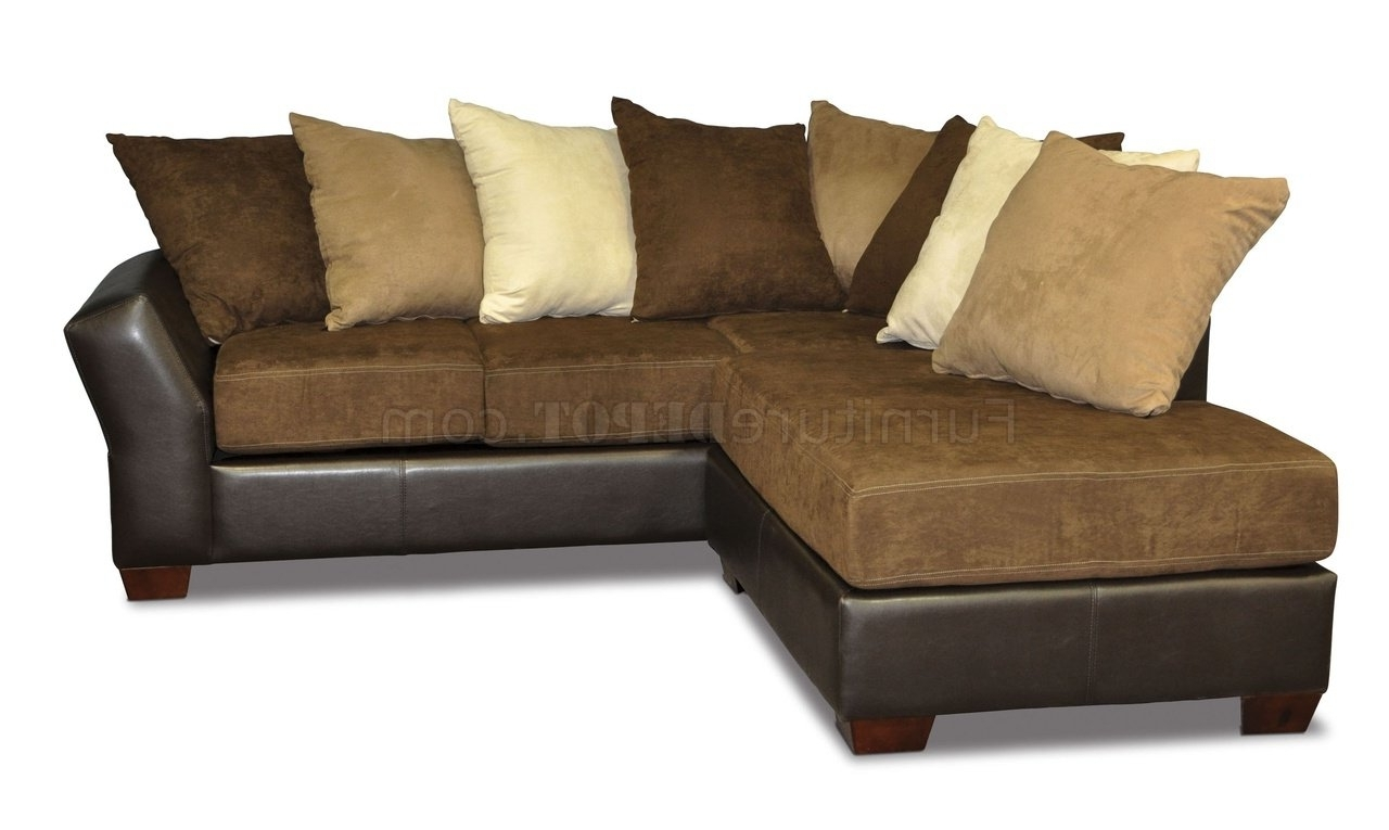 Preferred Back Modern Sectional Sofa W/oversized Back Pillows Within Sofas With Oversized Pillows (View 5 of 15)
