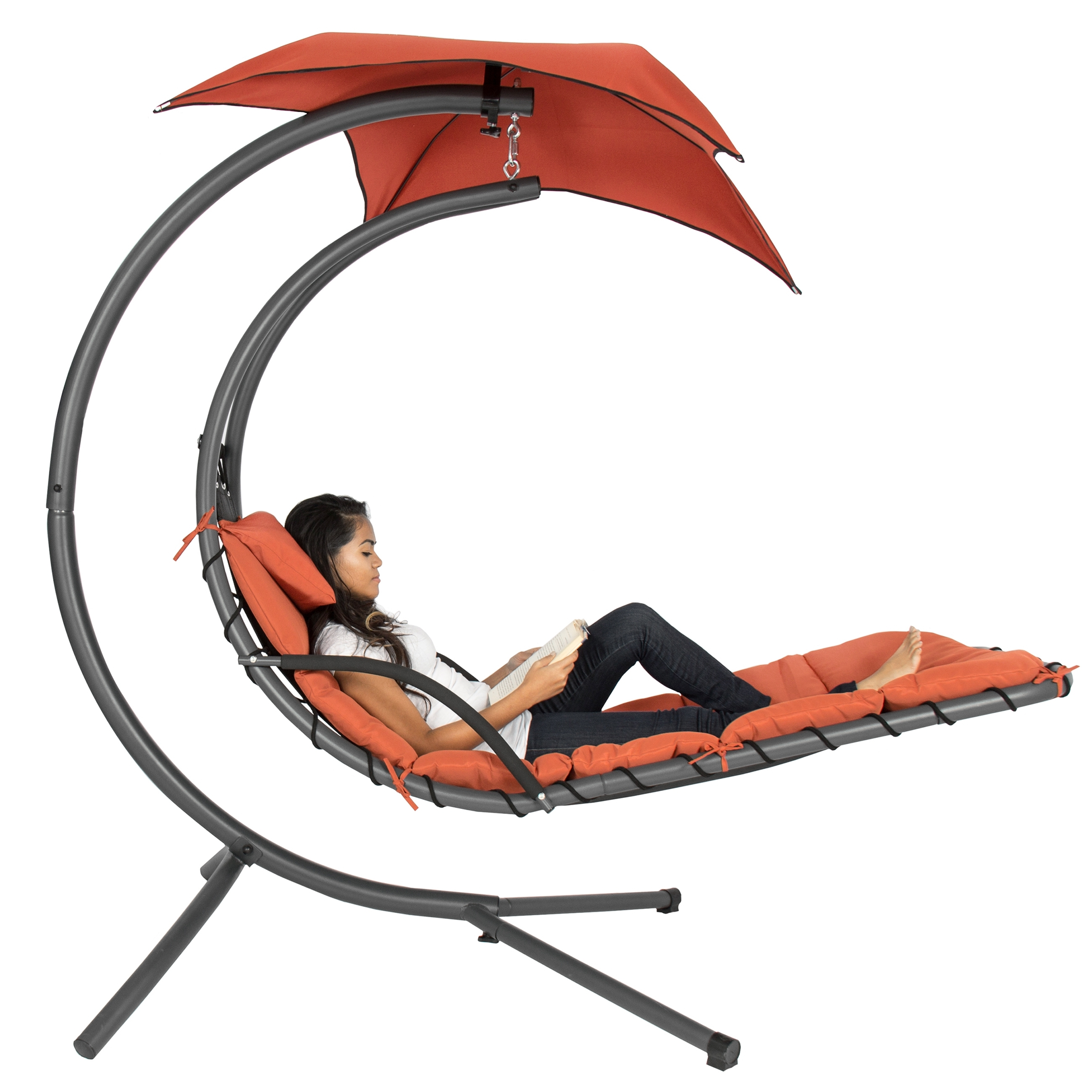 Preferred Best Choice Products Hanging Chaise Lounger Chair Arc Stand Air For Hanging Chaise Lounge Chairs (View 11 of 15)