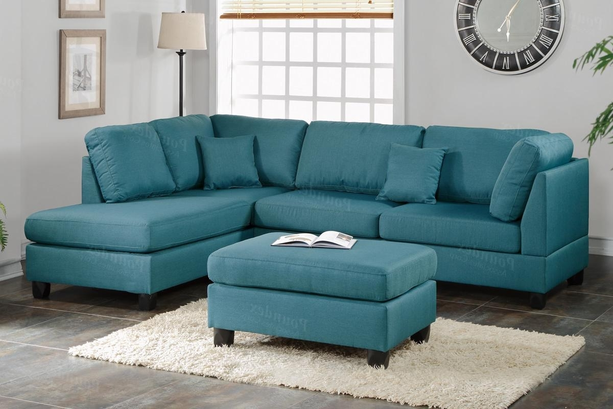 Preferred Blue Sectional Sofas Inside Courtney Blue Fabric Sectional Sofa And Ottoman – Steal A Sofa (View 11 of 15)