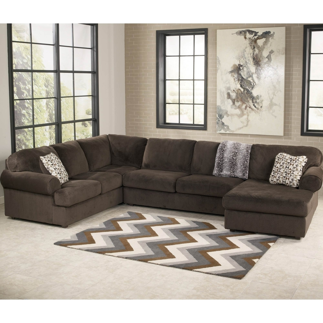 Preferred Brown Sectional Living Room (View 13 of 15)
