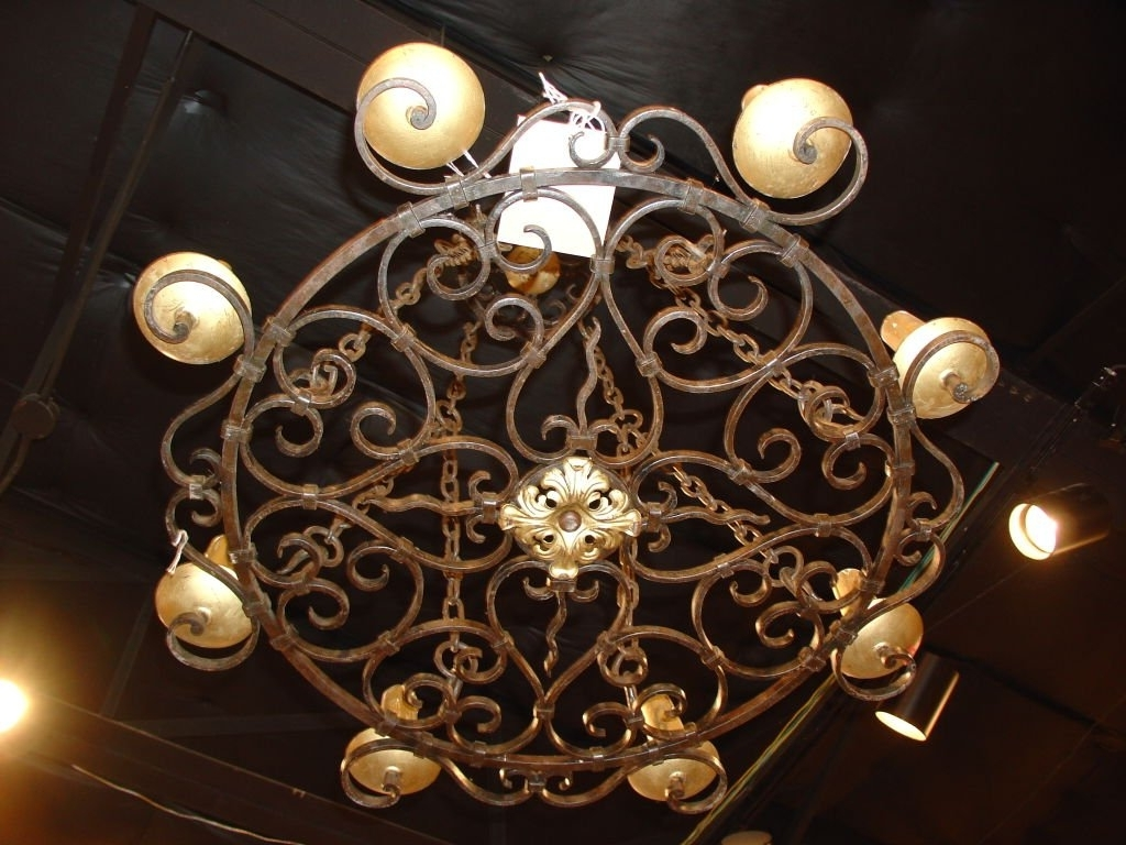 Preferred Cast Iron Antique Chandelier In Round Cast Iron Antique Chandelier For Sale At 1Stdibs (View 10 of 15)