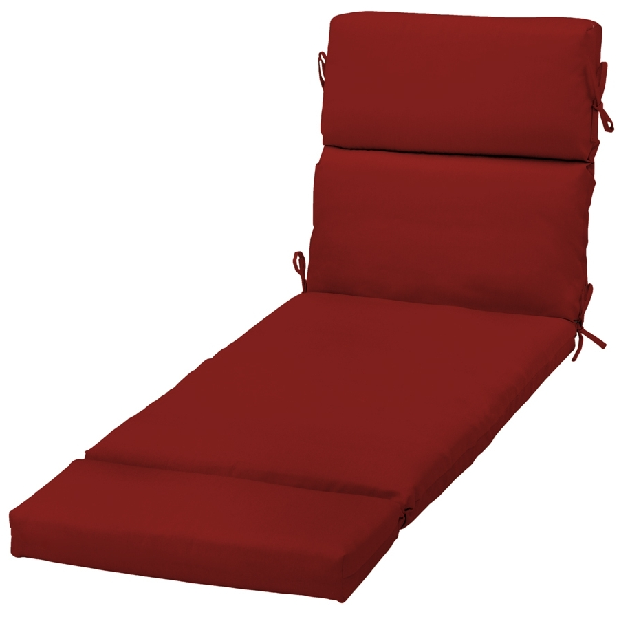 Preferred Chaise Cushions Throughout Shop Garden Treasures Red Red Solid Standard Patio Chair Cushion (View 11 of 15)