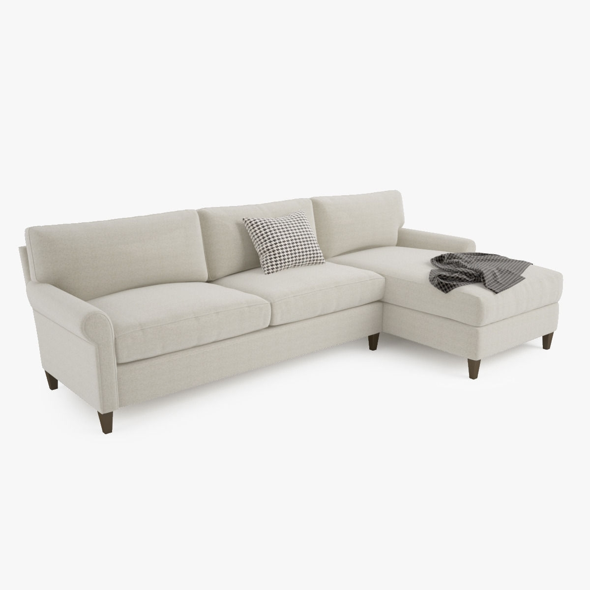Preferred Crate And Barrel Montclair 2 Piece Sectional Sofa 3D Model Max Obj For Crate And Barrel Chaises (View 14 of 15)
