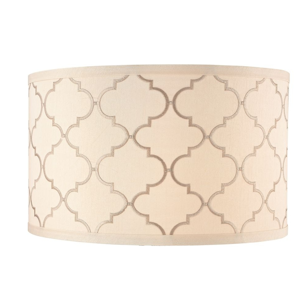 Preferred Cream Drum Lamp Shade With Marrakesh Pattern And Spider Assembly Intended For Clip On Drum Chandelier Shades (View 9 of 15)