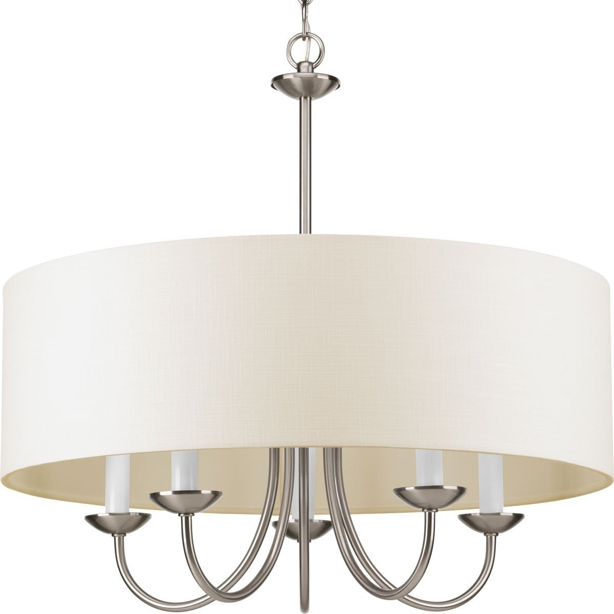 Preferred Drum Lamp Shades For Chandeliers With Progress Lighting P4217 09 5 Lt (View 10 of 15)