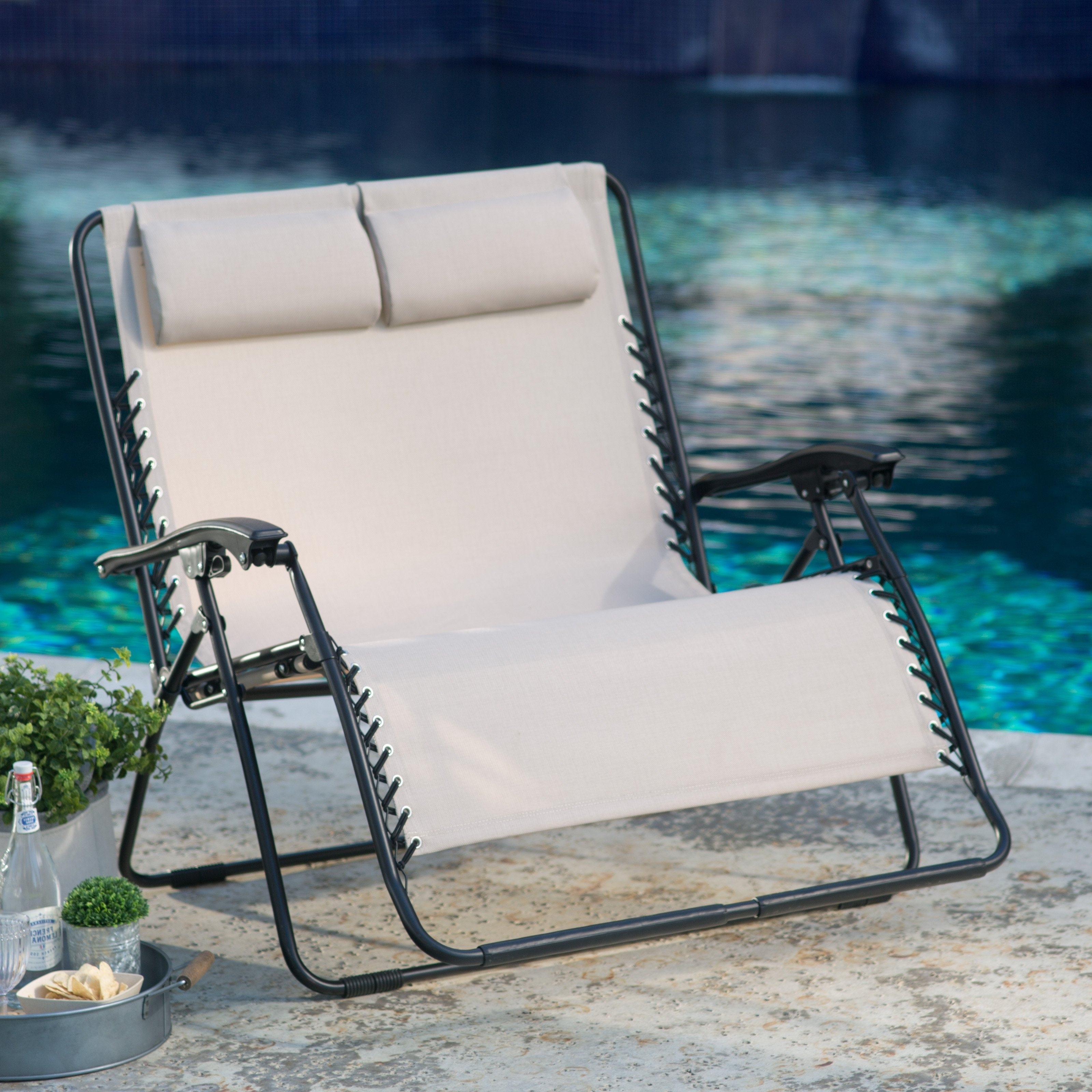 Preferred Extra Wide Outdoor Chaise Lounge Chairs Throughout Coral Coast Padded Extra Wide Zero Gravity Chair (View 10 of 15)